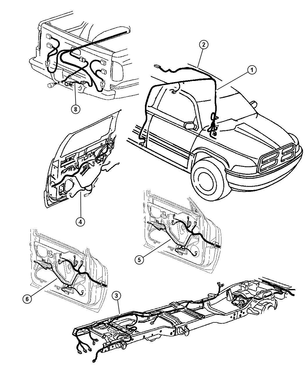 56020190 - Dodge Wiring. Mirror jumper | Dodge Parts ...