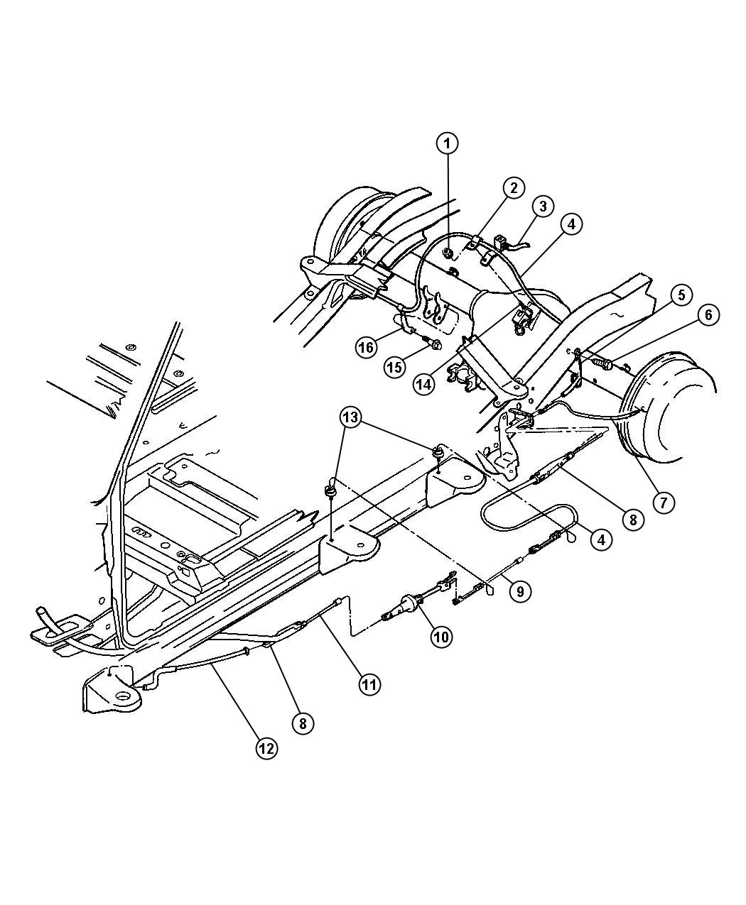 I on 2001 Dodge Dakota Rear Brake Diagram