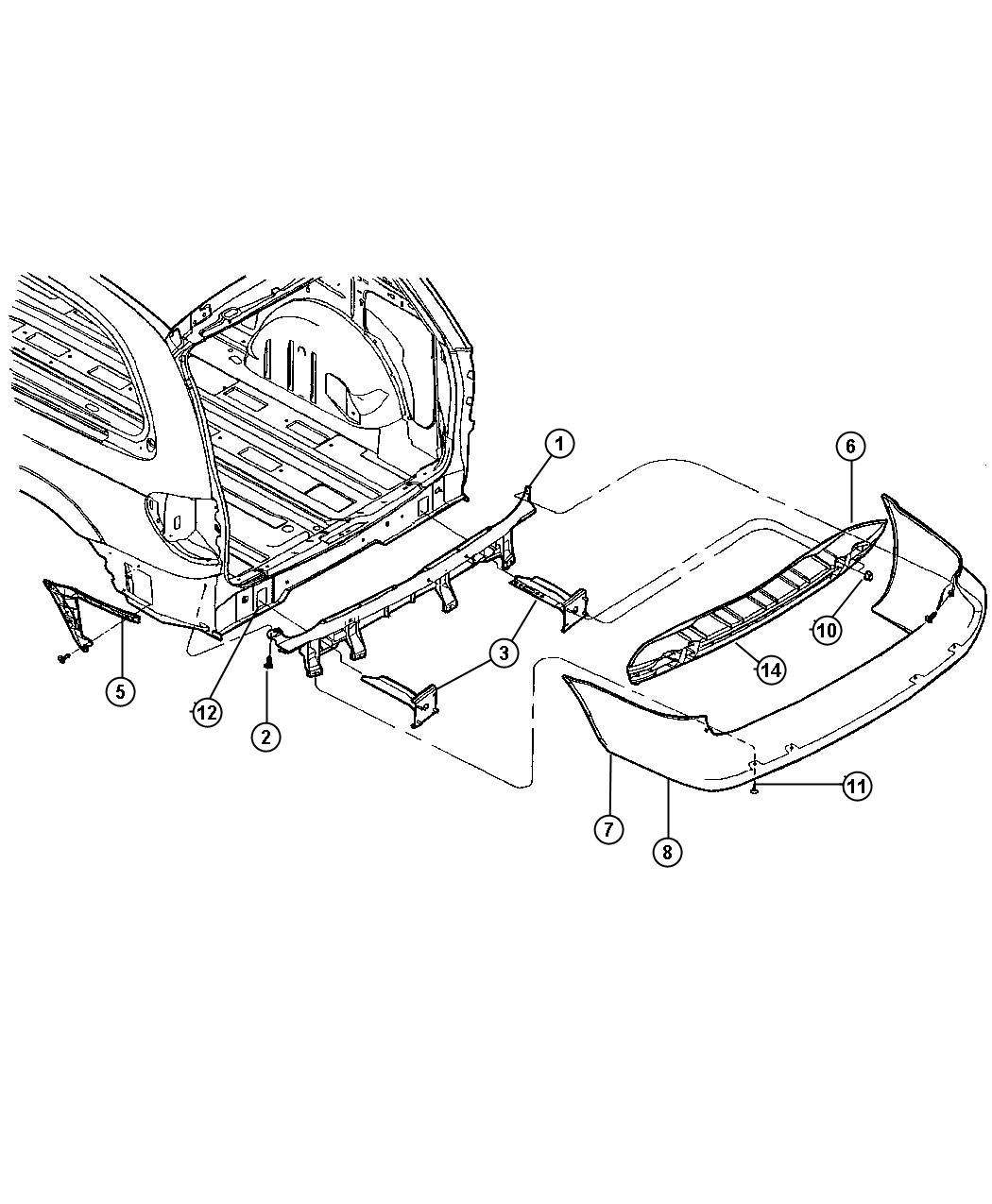 04857273ab - dodge scuff pad  rear fascia  carbon black