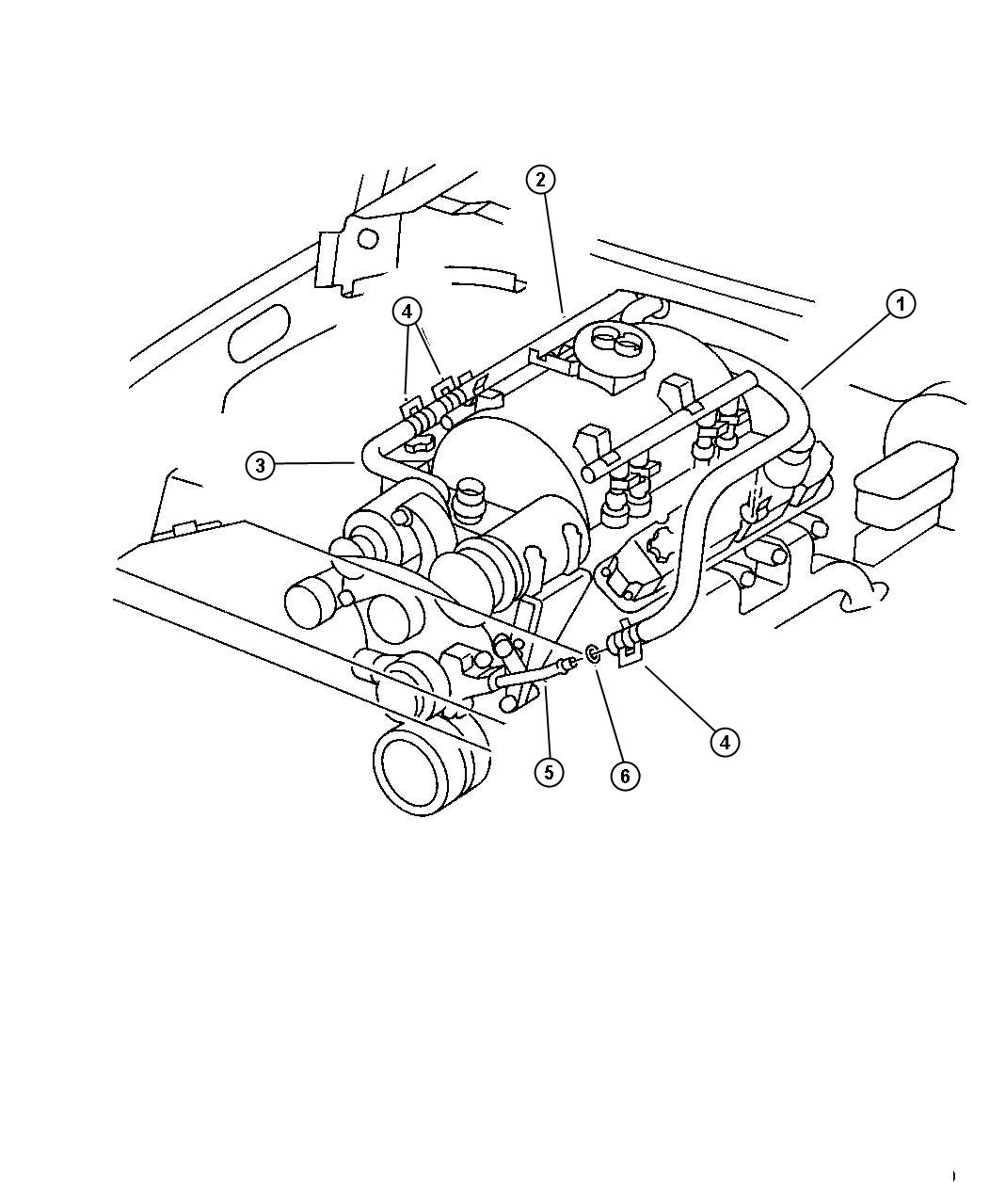 55036160     Dodge    Tube Water pump inlet Heater return