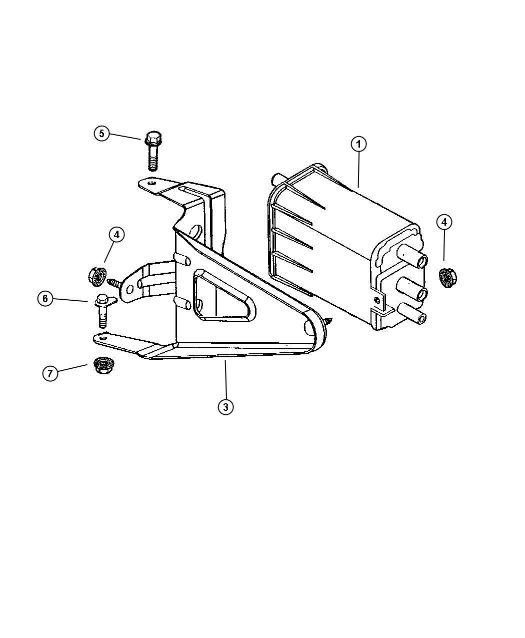 dodge durango canister  vapor  evap  states