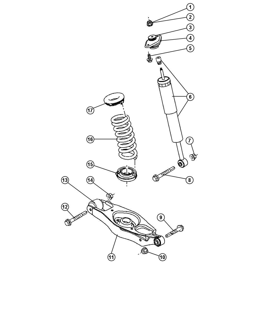 Dodge Charger Isolator  Spring  Upper  Suspension  Shocks  Rear
