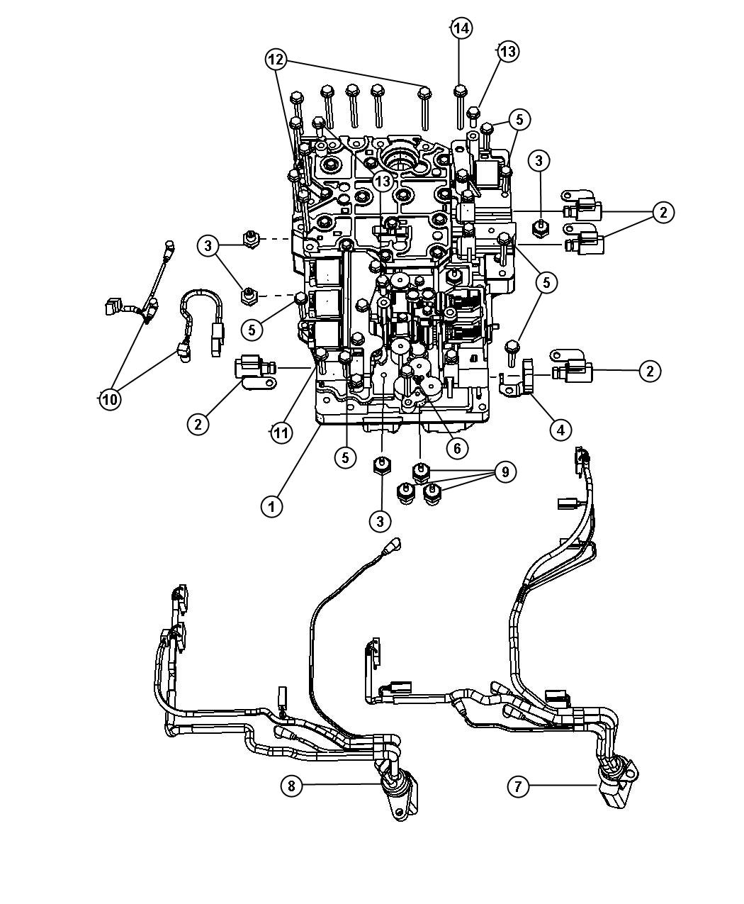 68019703ab dodge harness valve body solenoid wire to