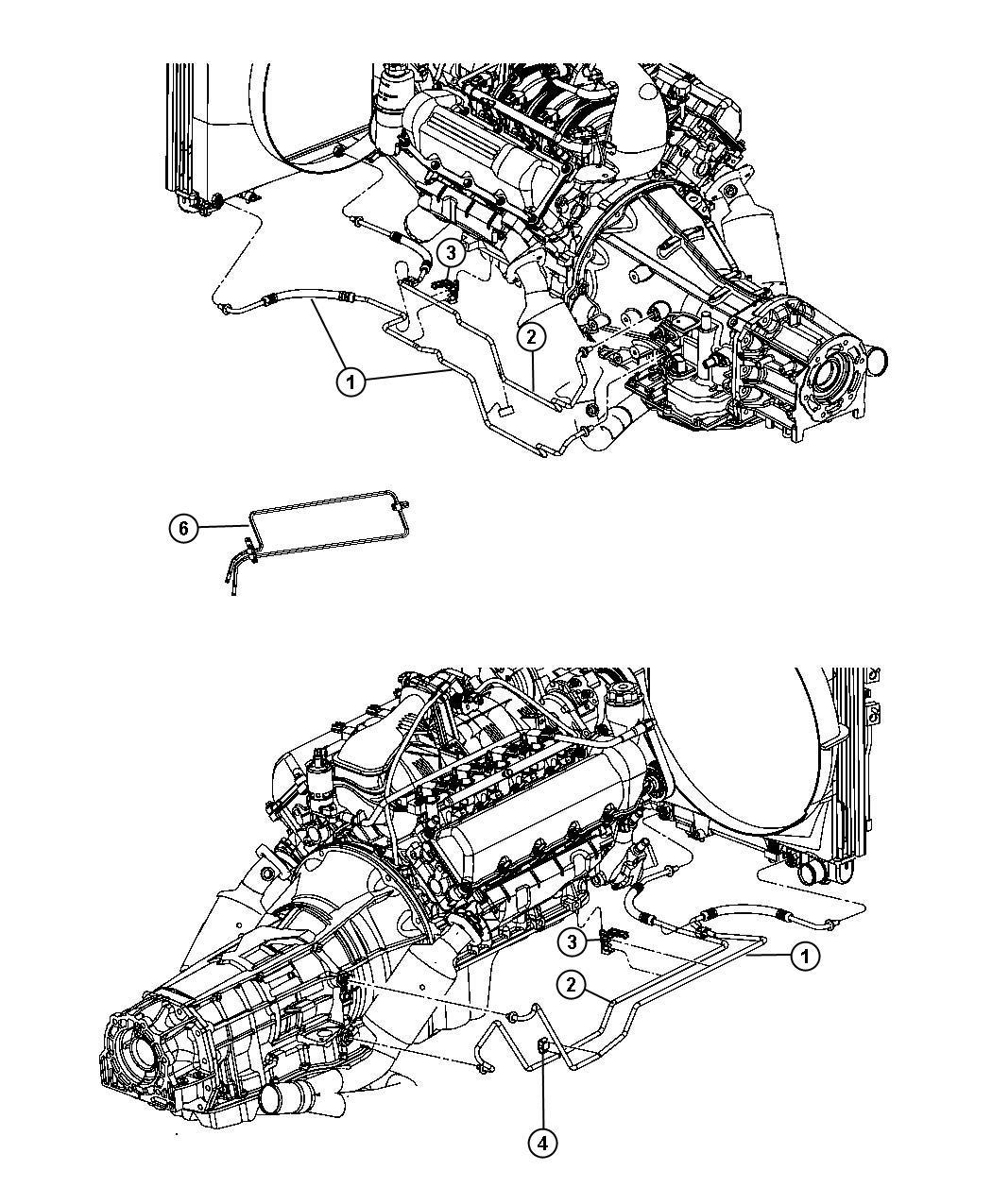 Dodge Dakota Used for: TUBE AND HOSE. Oil Cooler. Pressure ...