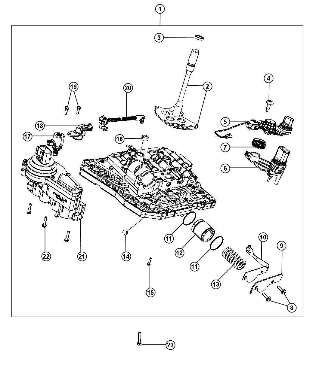 Dodge Charger Solenoid  Solenoid Package  Transmission  Valve Body