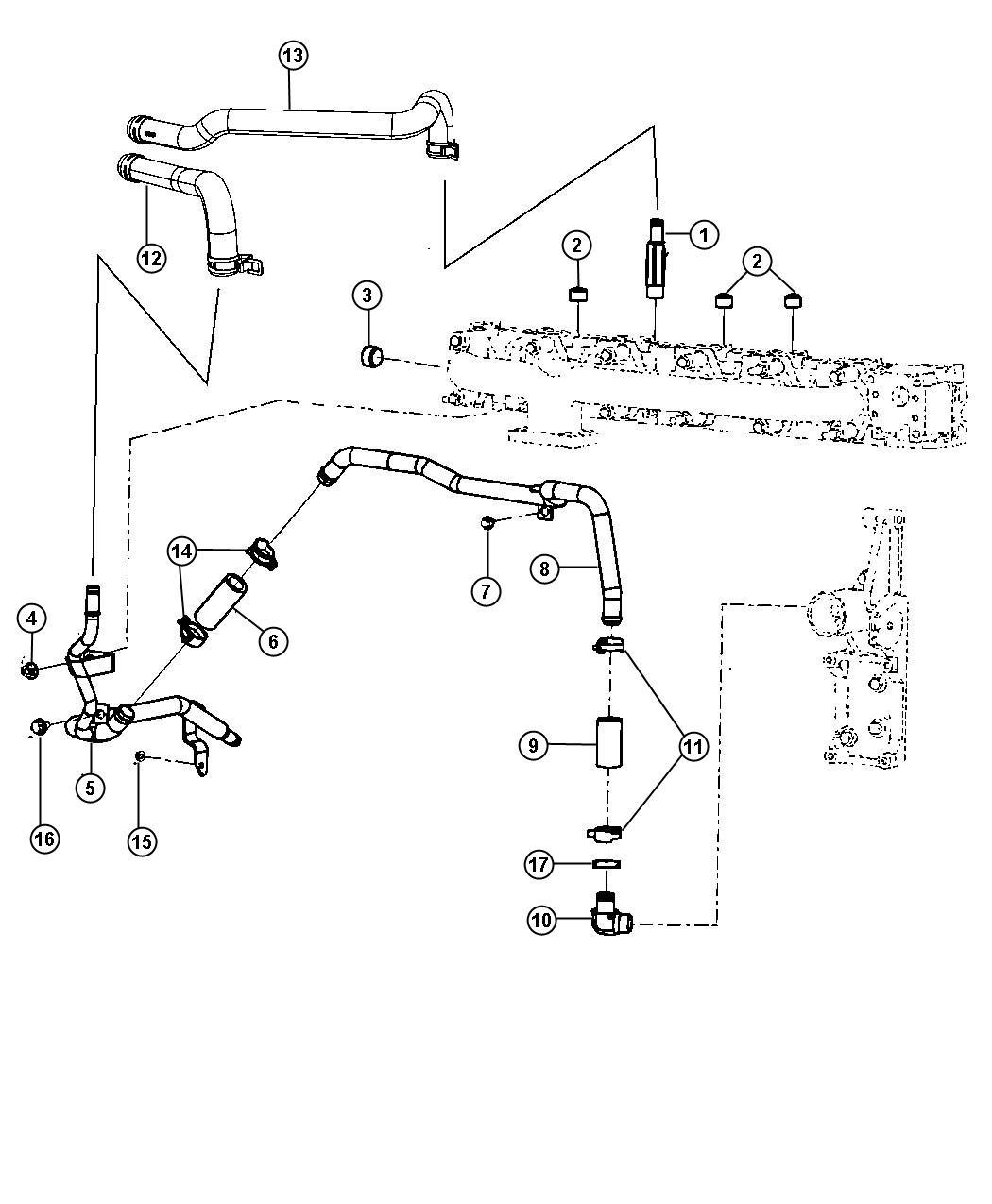 67 Cummins Heater Hose Diagram