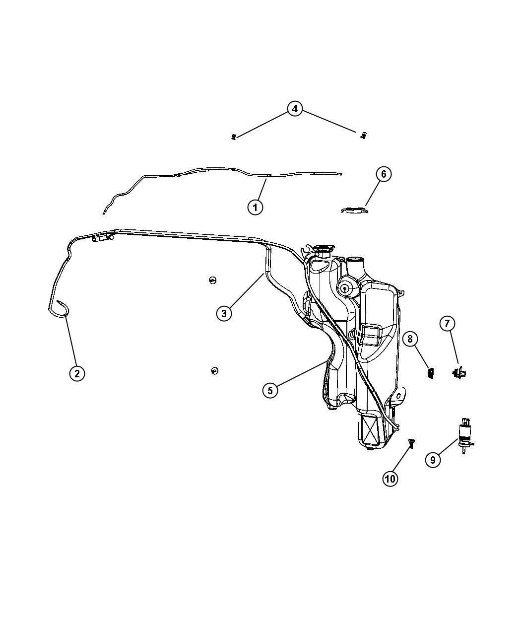2011 Dodge Ram 2500 Nozzle  Windshield Washer  System