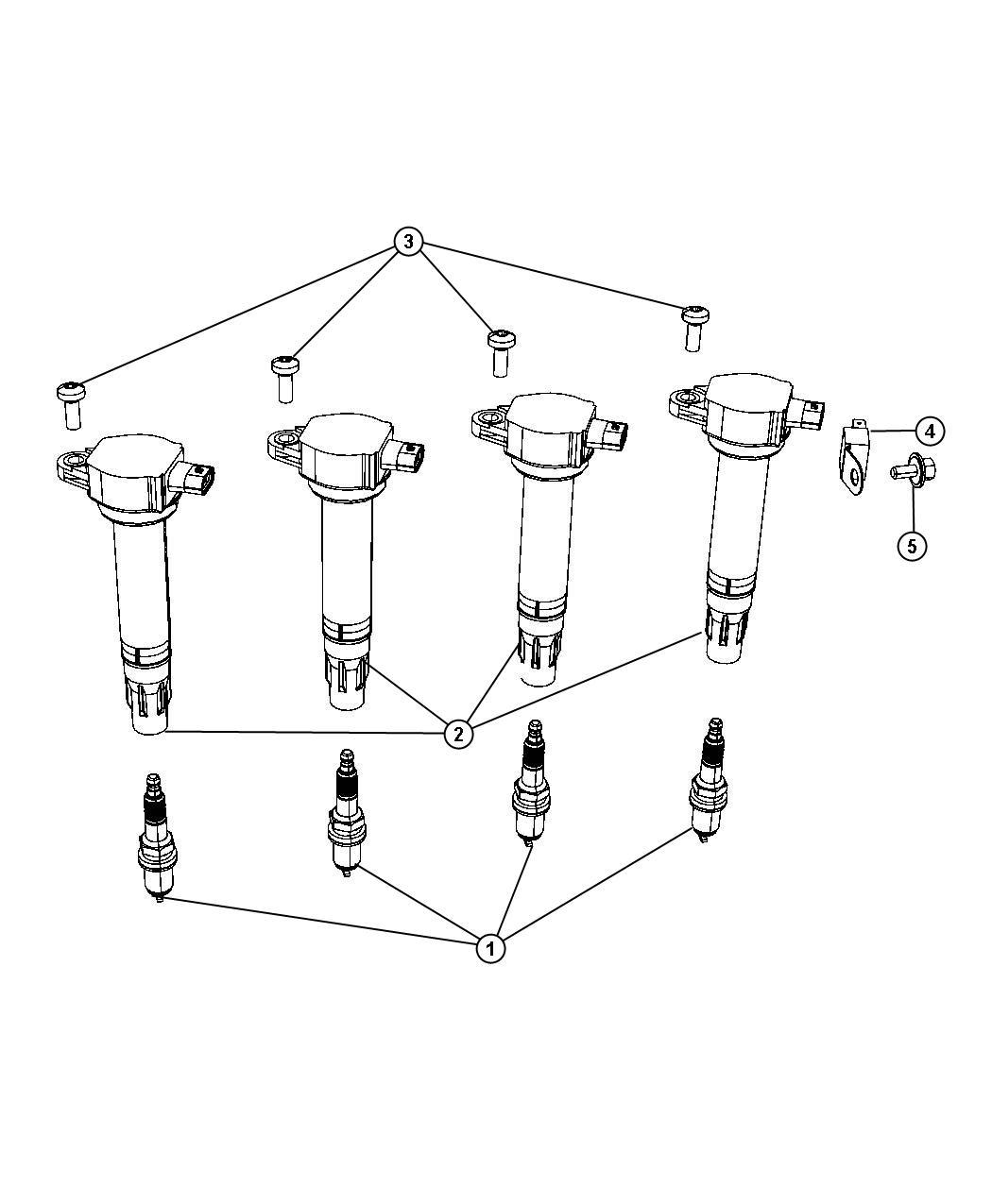 2011 Dodge Journey Spark Plug  Resistor  Plugs  Ignition  Electrical