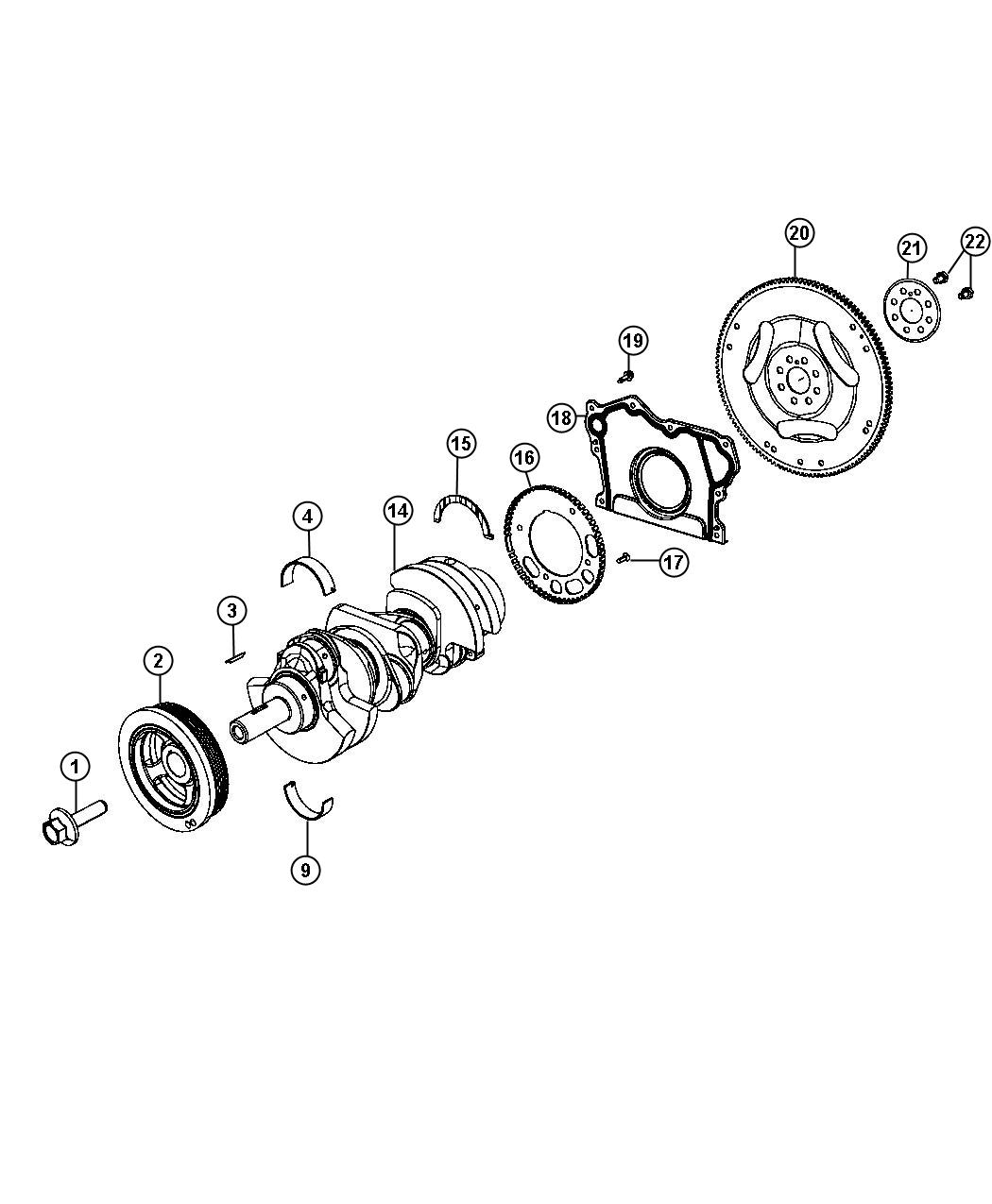 05184105ai dodge bearing crankshaft upper standard