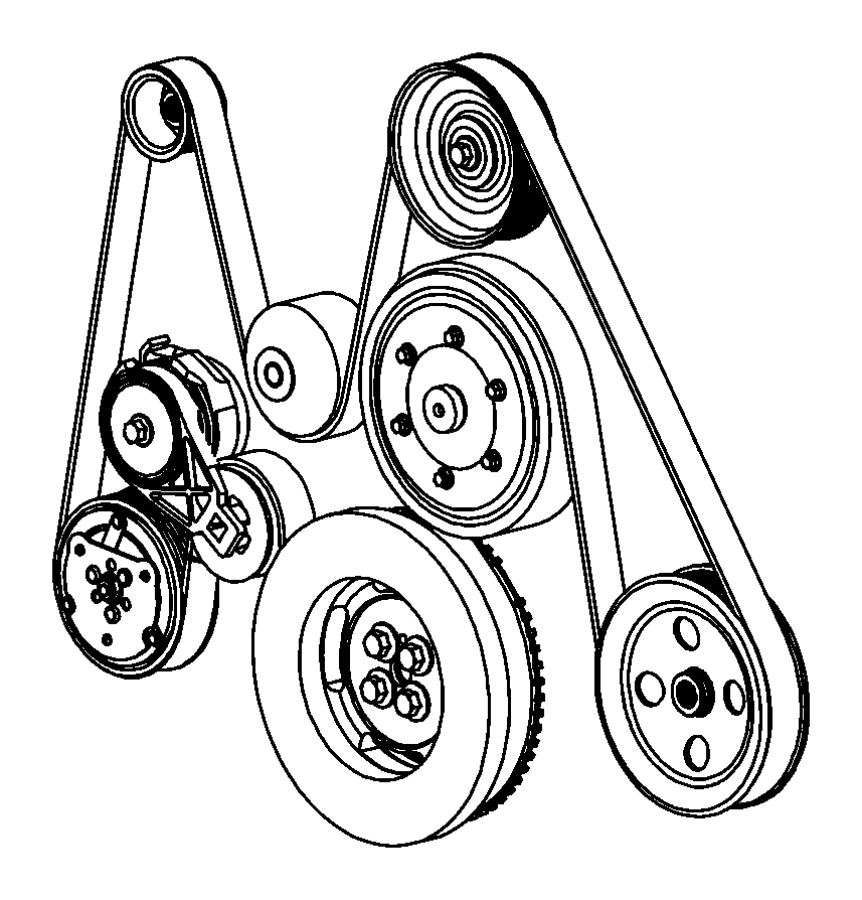 05183490AA - Dodge Pulley. Alternator. [6-speed manual ...