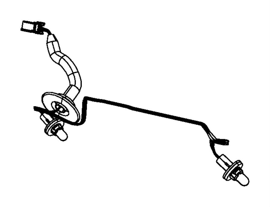 68028052AA  Dodge    Wiring       License    lamp    Plate     brow  rear   Dodge Parts Overstock  Atlanta GA